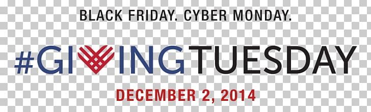 Giving Tuesday Cyber Monday Non-profit Organisation Black Friday Gift PNG, Clipart, Area, Banner, Black Friday, Blue, Brand Free PNG Download