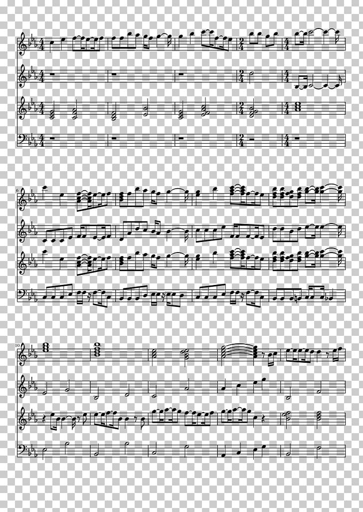 A Cruel Angel's Thesis Sheet Music Piano Synthesia PNG