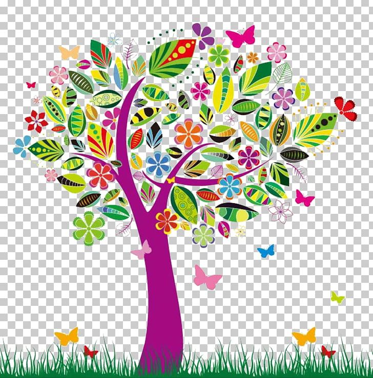 Tree Color Flower Png Clipart Abstract Art Area Blossom
