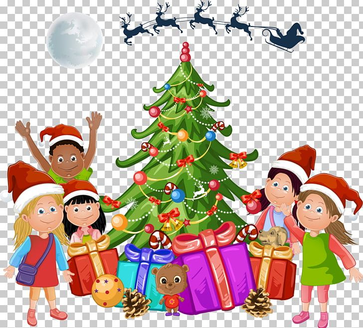 Christmas Tree Cartoon Png
