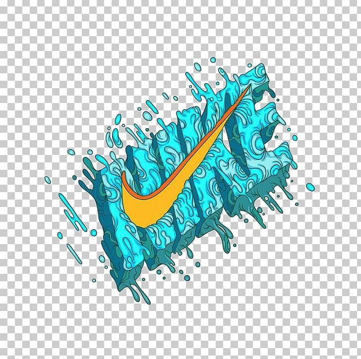 Nike Free Logo Brand Illustration Png Clipart Aqua Behance Brands Cartoon Creative Ads Free Png Download