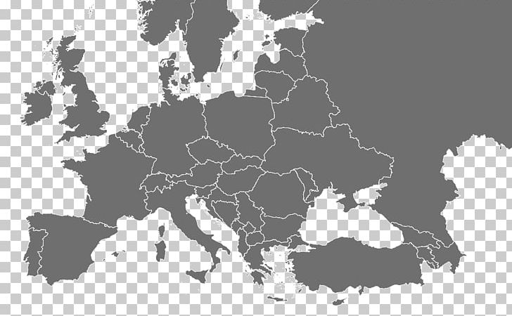 Europe Blank Map World Map PNG, Clipart, Black, Black And ...