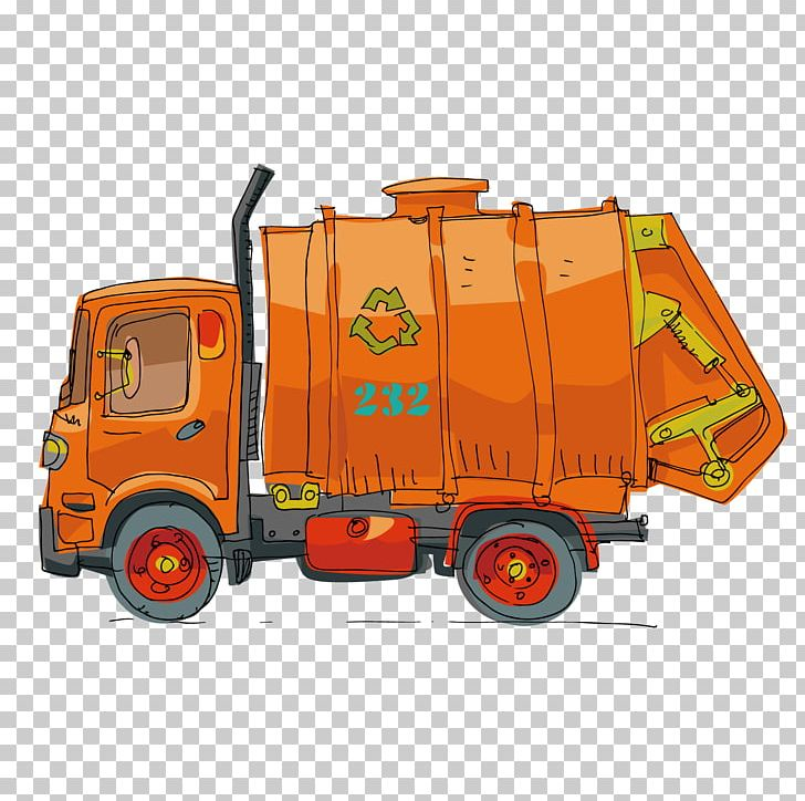 Garbage Truck Cartoon Png Clipart Car Dump Truck Encapsulated Postscript Flat Car Forklift Free Png Download