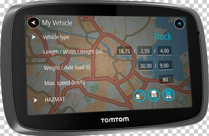 GPS Navigation Systems Car Europe TomTom Trucker 6000 PNG, Clipart