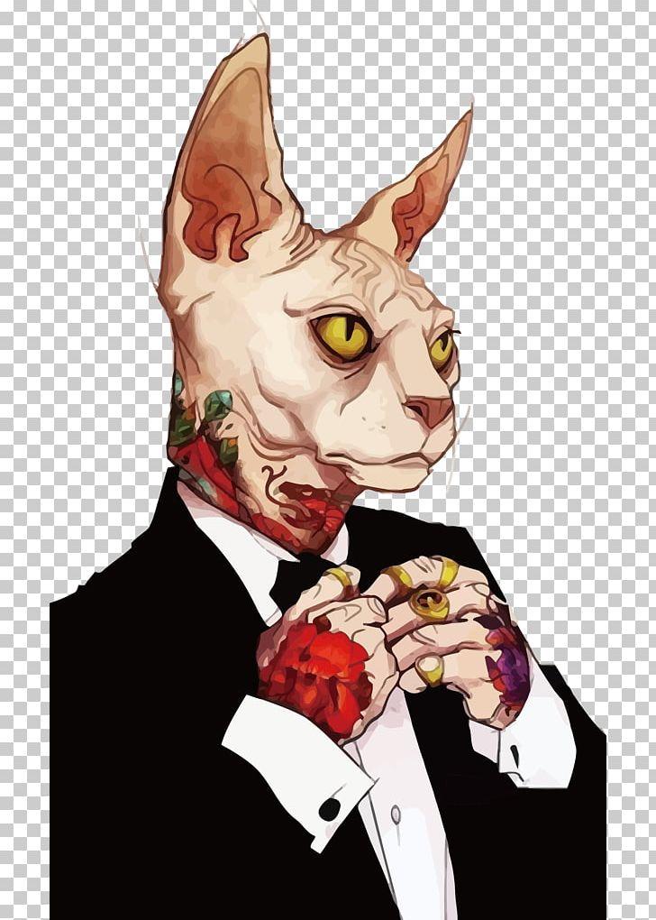 Sphynx Cat Drawing Digital Art Illustration Png Clipart Art Artist Carnivoran Cat Cat Like Mammal Free