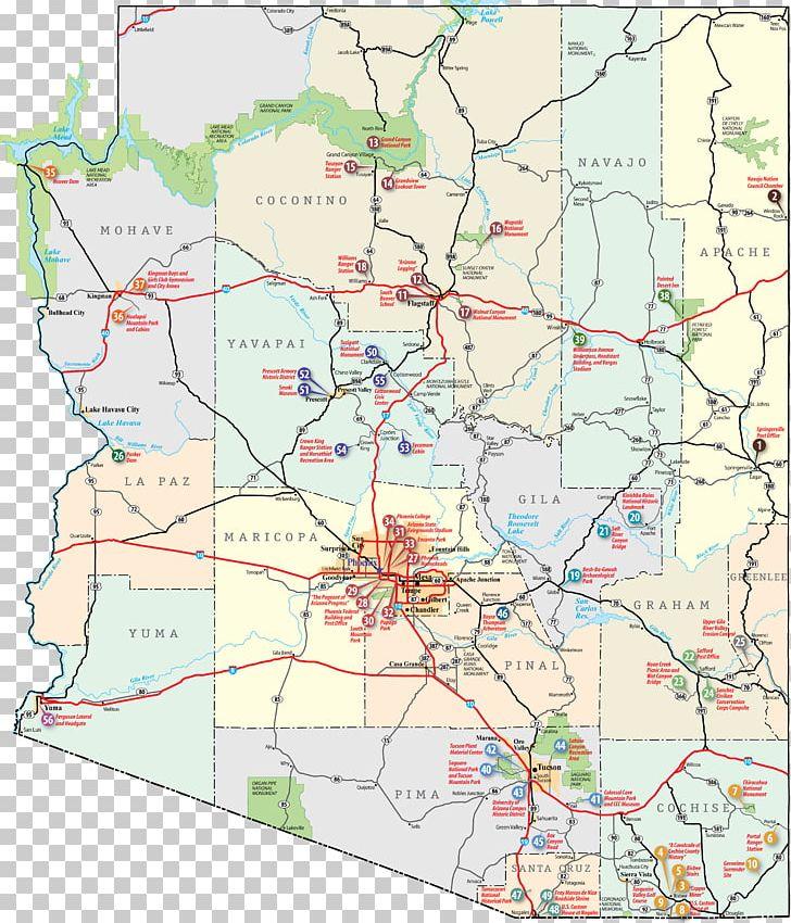 U.S. Route 80 Cottonwood Wickenburg Interstate 80 Road Map ...