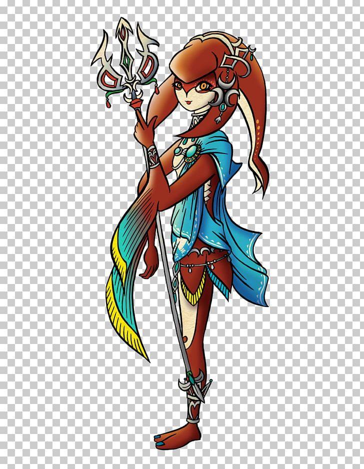The Legend Of Zelda Breath Of The Wild Link Mipha Drawing
