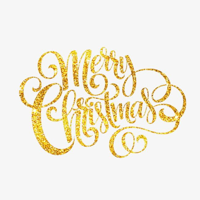 Merry Christmas Images Png.Golden Merry Christmas Png Clipart Christmas Christmas