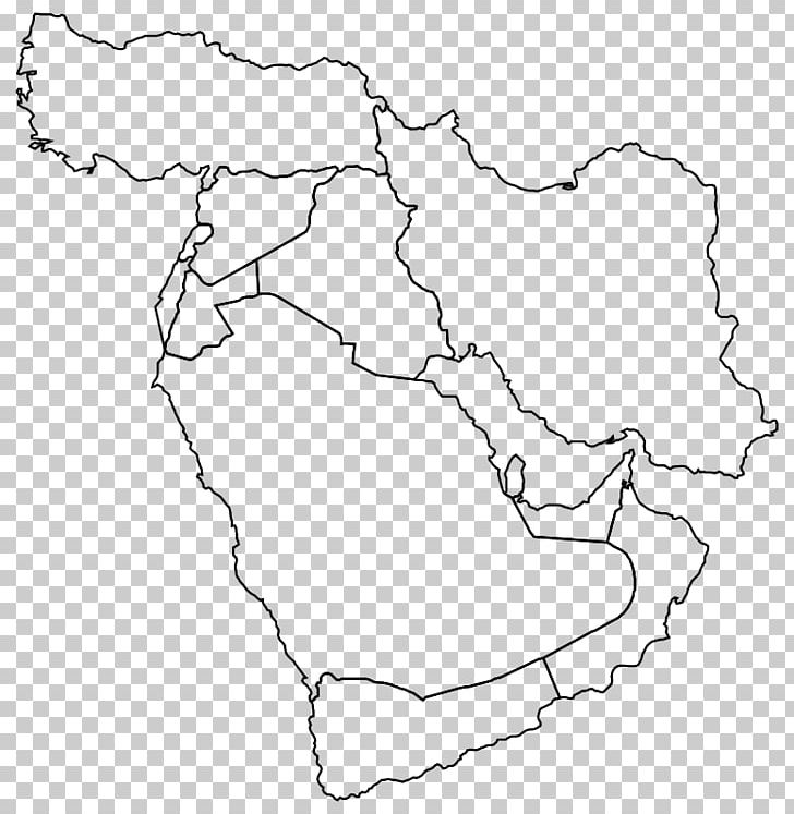 Middle East Western Asia Blank Map World Map PNG, Clipart ...