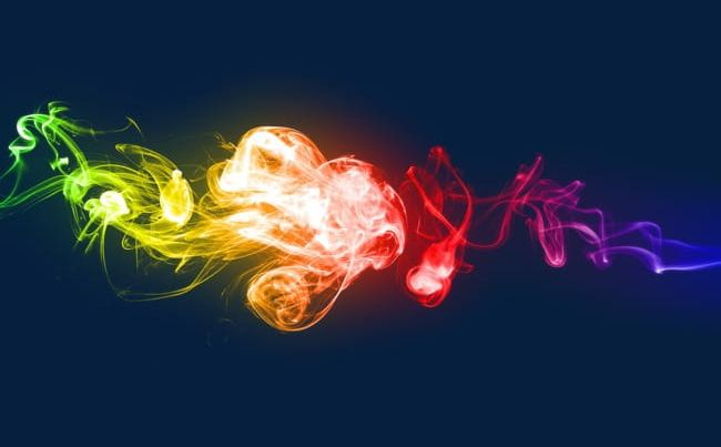 Smoke rainbow. Color colorful png clipart