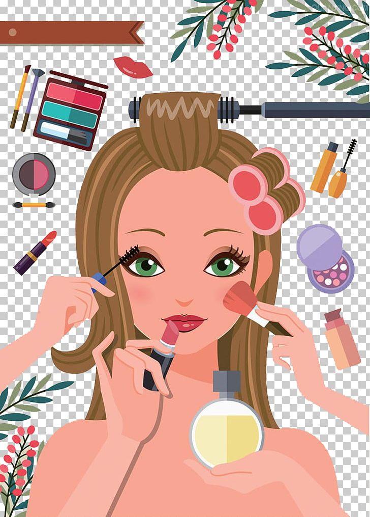 Cosmetics Make Up Cartoon Editor Png Clipart Anime Girl