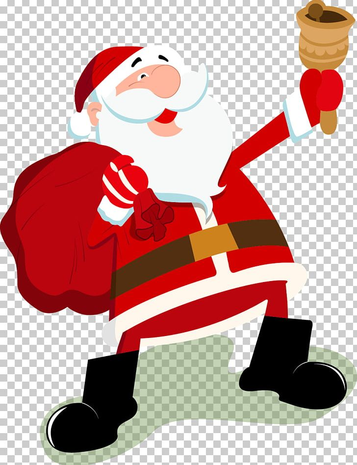Santa Claus Christmas Cartoon PNG, Clipart, Art, Bells, Cartoon, Cartoon Character, Cartoon Eyes Free PNG Download