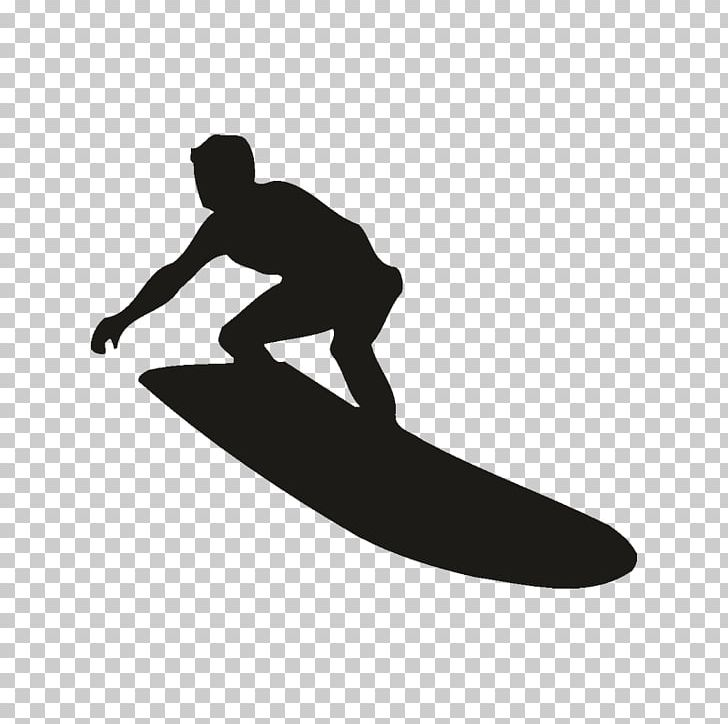 Surfing Silhouette Surfboard Png Clipart Black And White