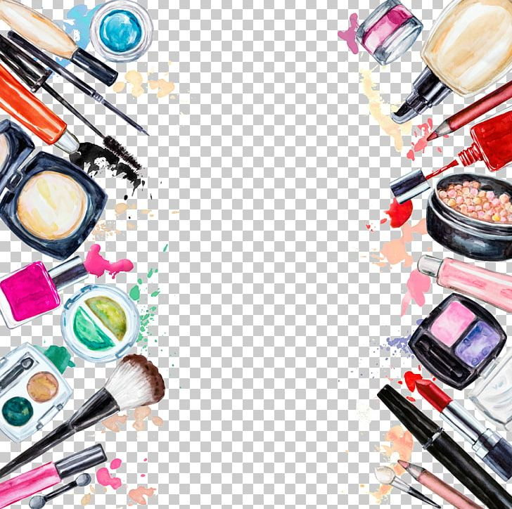 Cosmetics Beauty Eye Shadow Lipstick Frame PNG, Clipart, Beauty, Beauty Parlour, Brush, Compact, Construction Tools Free PNG Download