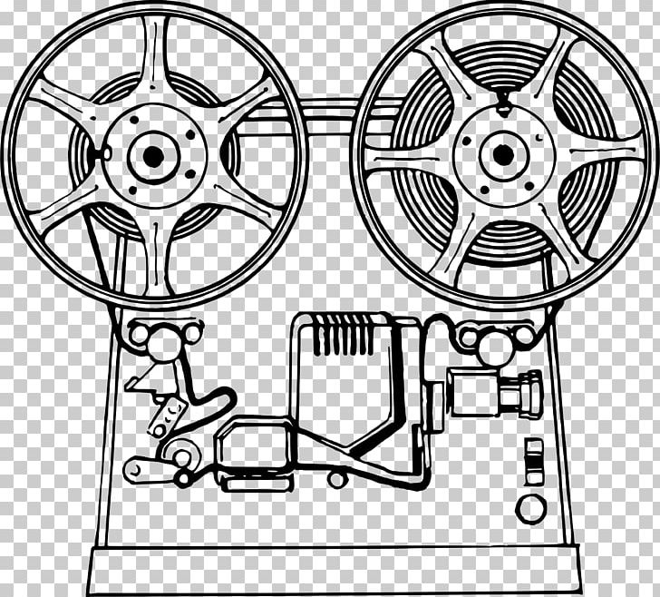 Movie Projector Film Art PNG, Clipart, Angle, Art, Auto Part, Black And White, Camera Clipart Free PNG Download