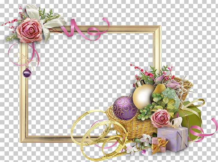 Frames Flower New Year Floral Design PNG, Clipart, Artificial Flower, Birthday, Birthday Border, Border, Christmas Ornament Free PNG Download