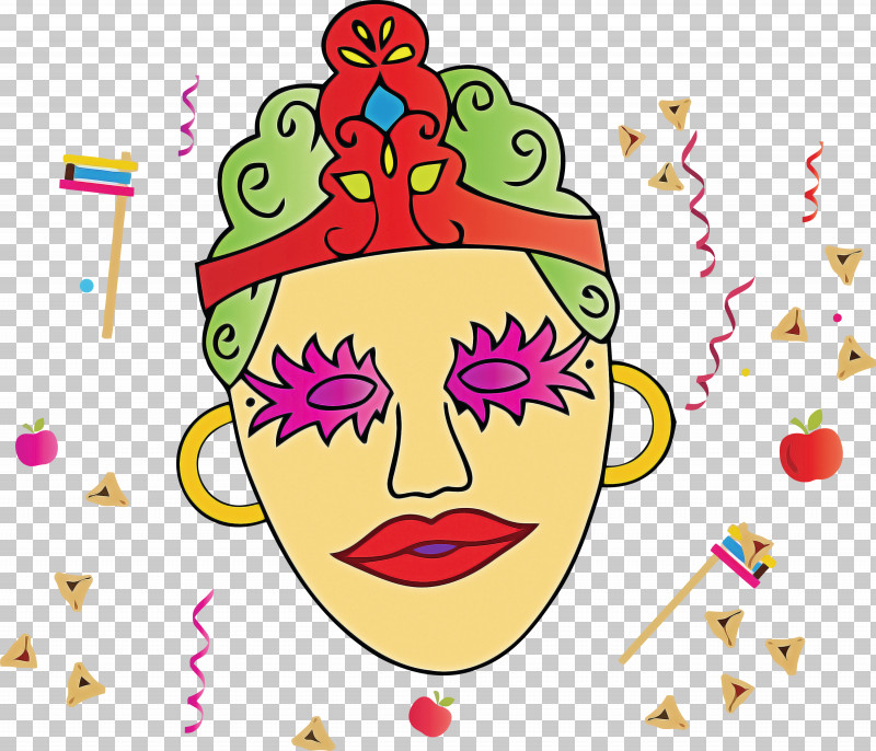 Purim Jewish Holiday PNG, Clipart, Cheek, Face, Head, Holiday, Jewish Free PNG Download