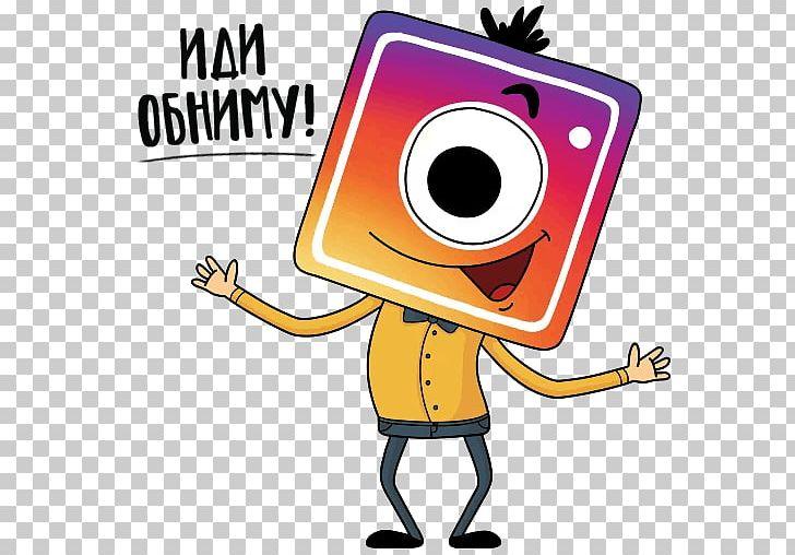 Instagram cartoon. Sticker telegram illustration png