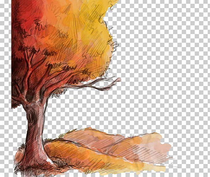 Autumn Drawing Euclidean Png Clipart Art Autumn Cartoon Desktop Wallpaper Drawing Free Png Download