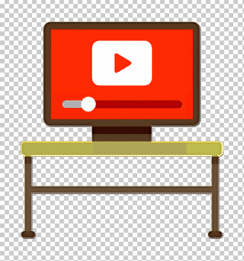 Monitor Icon Video Player Icon E-Learning Icon PNG, Clipart, E Learning Icon, Furniture, Garden Furniture, Line, Meter Free PNG Download