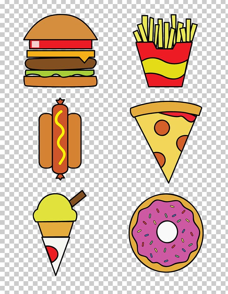 Ice Cream Fast Food French Fries Hamburger Pizza PNG, Clipart, Area, Artwork, Cheeseburger, Computer Graphics, Computer Icons Free PNG Download