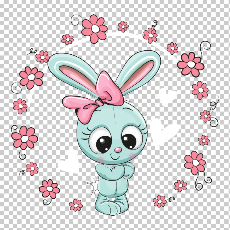 Easter Bunny PNG, Clipart, Cartoon, Easter Bunny, Heart, Pink, Plant Free PNG Download