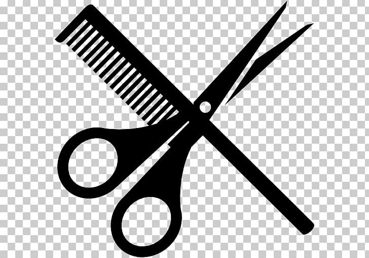 Comb Scissors Hairdresser PNG, Clipart, Beauty Parlour, Black And White, Clip Art, Comb, Computer Icons Free PNG Download