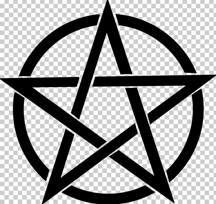 Pentagram Pentacle Wicca PNG, Clipart, Angle, Area, Black And White, Circle, Line Free PNG Download