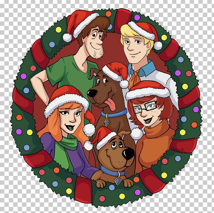Scooby Doo Christmas.Santa Claus Christmas Ornament Scooby Doo Christmas Day Png