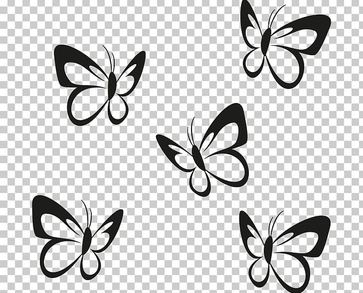Butterfly Wall Decal Sticker Paper Partition Wall PNG