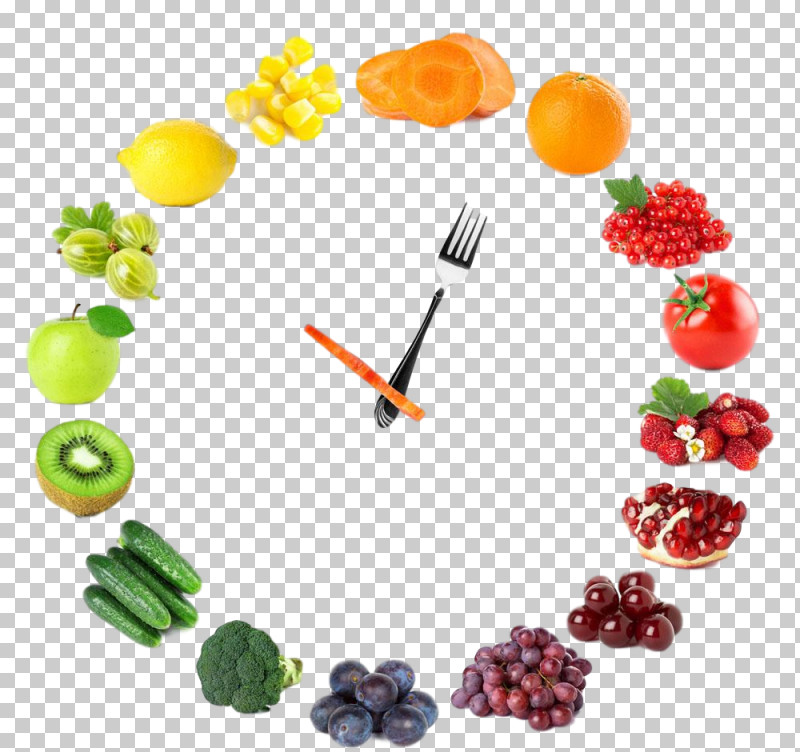 Fruit Vegetarian Food Clock Plant Food PNG, Clipart, Clock, Food, Fruit, Plant, Vegetarian Food Free PNG Download