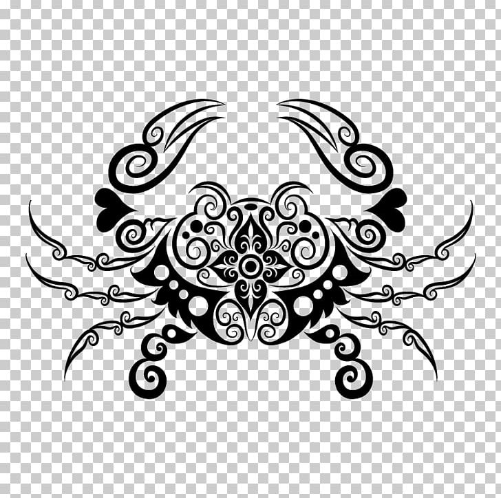 Crab Tattoo Zodiac Cancer Decapoda Png Clipart Animals Astrological Sign Black Chesapeake Blue Crab Circle Free