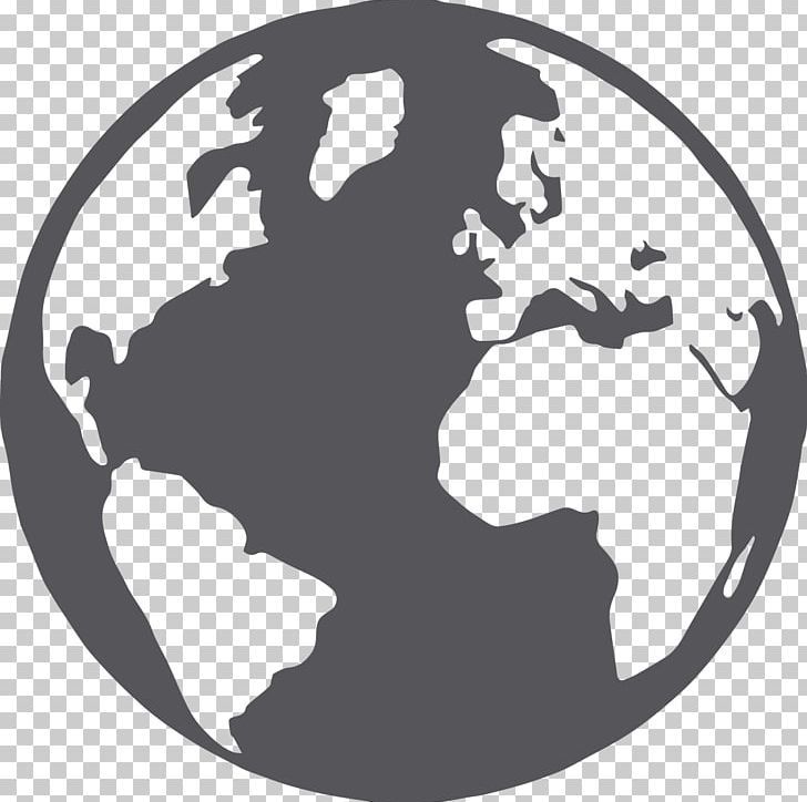 Globe World Map Computer Icons PNG, Clipart, Black And White ...