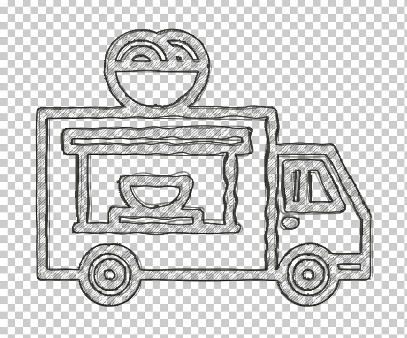 Fast Food Icon Van Icon Food Truck Icon PNG, Clipart, Auto Part, Blackandwhite, Car, Coloring Book, Doodle Free PNG Download