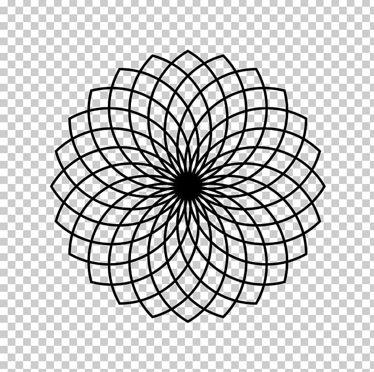 Sacred Geometry Circle Pattern PNG, Clipart, Angle, Area, Black And White, Circle, Color Free PNG Download