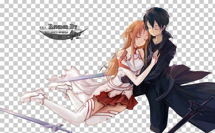 Asuna Kirito Sword Art Online 3 Fairy Dance Anime Png Clipart