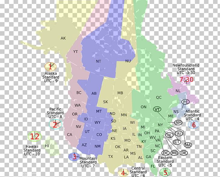 Map Of Canada Time Zones.United States Of America Canada Time Zone World Map Png Clipart