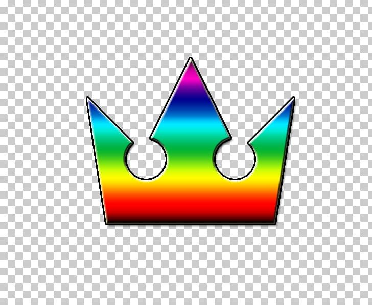 Crown Kingdom Hearts Rainbow PNG, Clipart, Area, Color, Crown, Heart