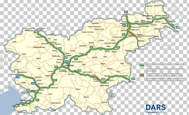 Slovenia Slowenisches Fremdenverkehrsamt Toll Road Road Map ...