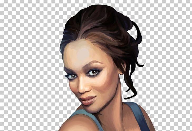 Tyra Banks Eyebrow Drawing Hair Coloring Png Clipart Black Hair