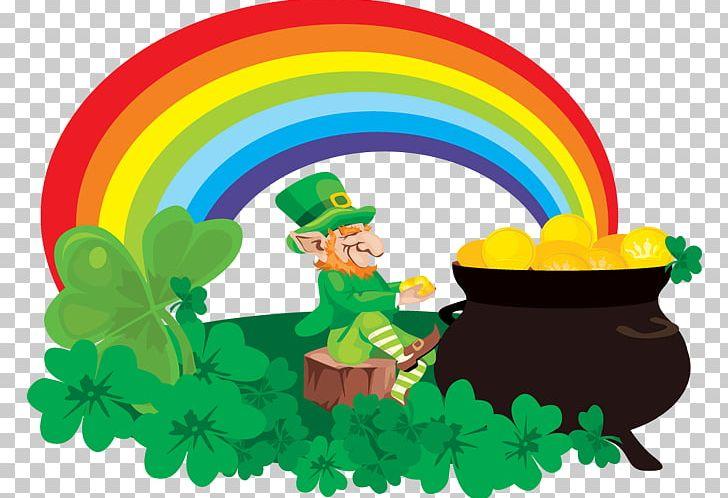 Rainbow Pot Of Gold Leprechaun Saint Patricks Day PNG, Clipart, Art, Cartoon, Circle, Cmyk Color Model, Color Free PNG Download