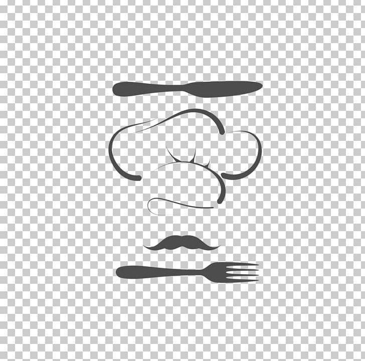 Logo Restaurant Png Clipart Art Black Black And White