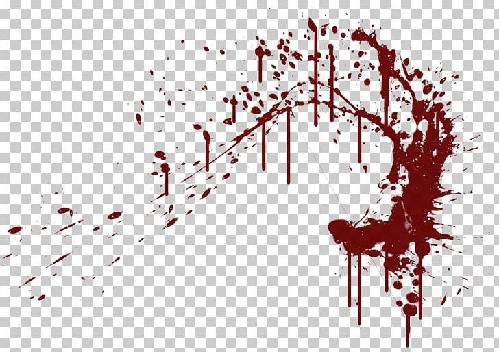 Blood splatter black clip art.