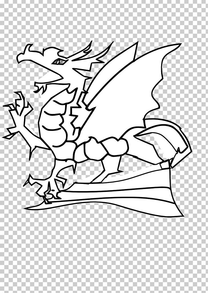 Dragon Black And White Png Clipart Angle Area Bearded Dragons