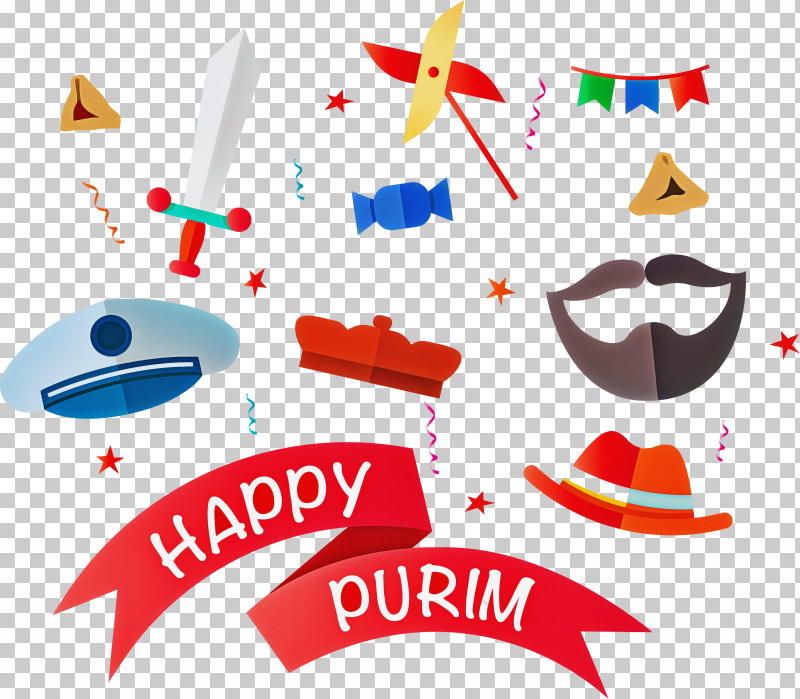 Purim Jewish Holiday PNG, Clipart, Holiday, Jewish, Logo, Purim, Text Free PNG Download
