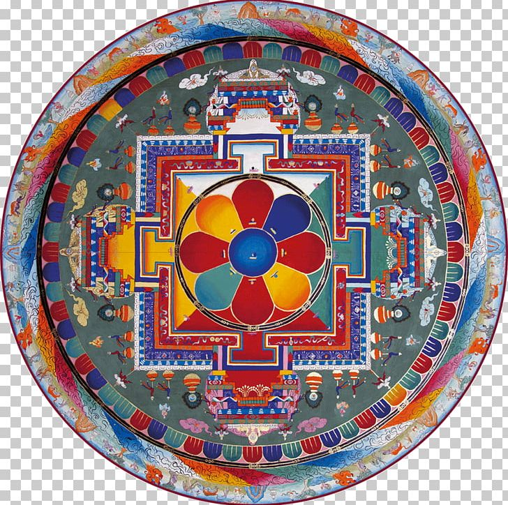 Mandala Tibetan Buddhism Sitatapatra PNG, Clipart, Buddhism, Circle, Denma, Dishware, Earth Free PNG Download