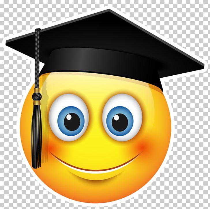 Graduation Ceremony Emoticon Emoji Smiley Square Academic