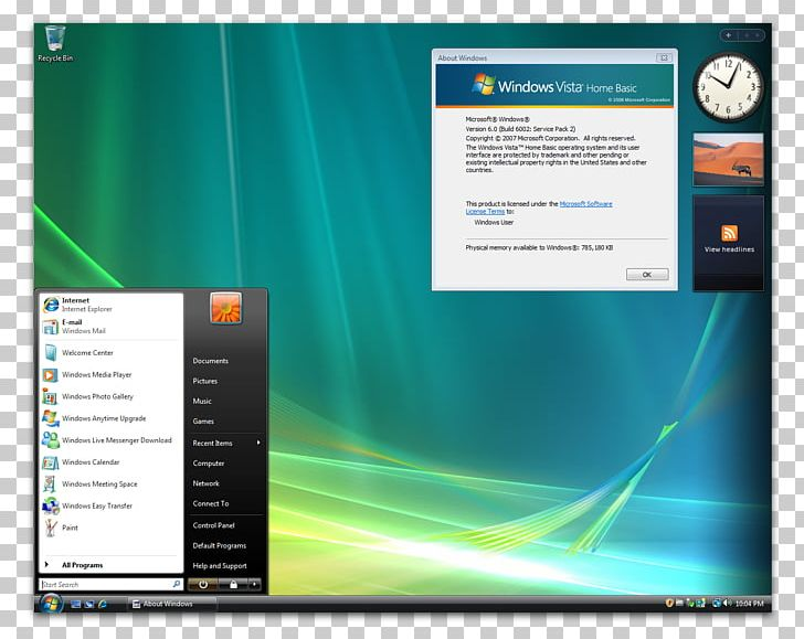 Windows Vista Home Basic Microsoft Windows Theme Windows XP PNG