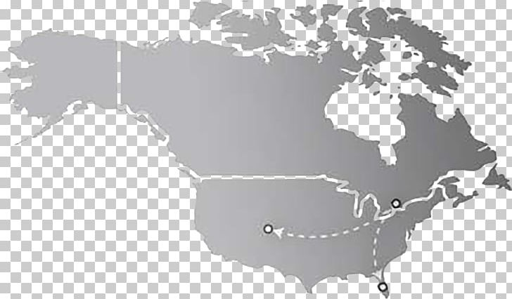 United States Canada South America World Map Png Clipart
