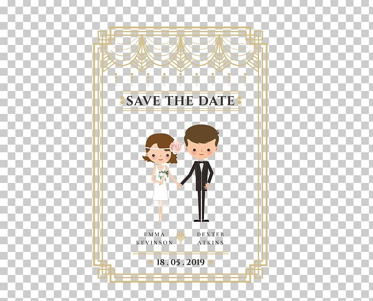 Wedding Cartoon Marriage PNG, Clipart, Area, Birthday Card, Bride, Business Card, Contemporary Western Wedding Dress Free PNG Download